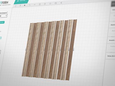 Sculptform - 3D Web Application drag and drop web app architectural wood sculpt toolbox 3d web app 3d app timber batten screening feature lining