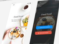 Food Feed - Login Screen