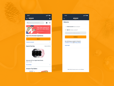 Amazon Home and Login Screens ecommerce shop ecommerce login amazon ux amazon ui amazon