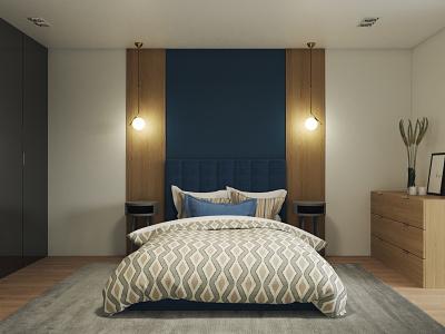 Bedroom ui vray illustration design 3d cg art render visualization 3dsmax