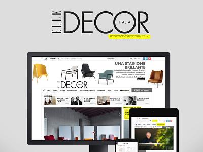 Elle Decor portfolio old ui photoshop 2014 elle decor italia cookiesandpartners web design ux design ui design redesign responsive elle decor