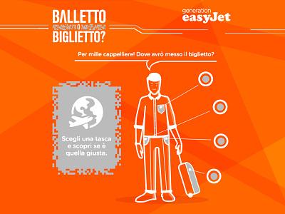 easyJet Facebook Game ui design outlines simple vector orange easyjet generation easyjet cookiesandpartners game facebook app ux design graphic design illustration ui