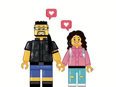 Lego portraits adobe illustrator illustrator lego illustration lego personaggi portraits characters vectorial illustration vectorart vector illustration