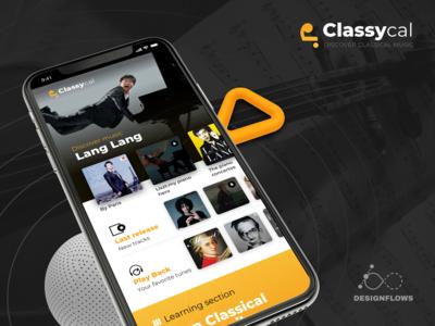 Classycal Music app UI | Designflows 2019