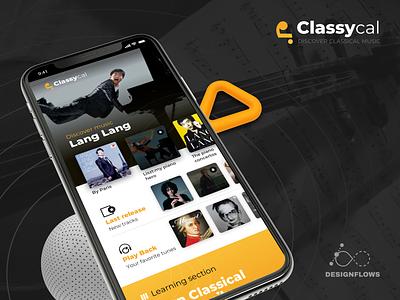 Classycal Music app UI | Designflows 2019 music ui music app ui sketch ui ios mobile iphonex ui design app music app classical music classical