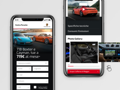 Landing page / Porsche dealer