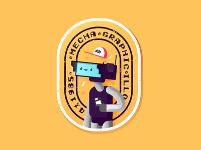Mecha-Sticker andremecha illustrazione procreate sketch adobe illustrator illustrator justforfun illo personal illustration sticker