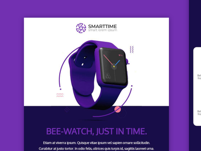 E-mail template design / Beepro bee editor newsletter design uidesigns uidesign graphic design smartwatch ui mailup email design email template email bee