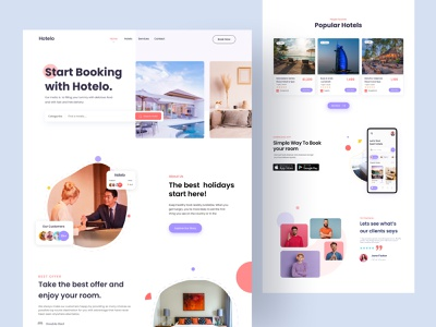 Hotel Booking Website hotel website travel website hotel booking uiux simple travel web design website landing page homepage travel agency vacation destination booking trip adventure hotel flight app travelling agency
