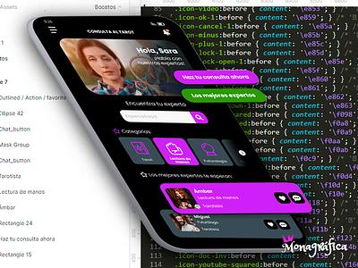 App tarot with Figma. Cards Design. design web figma ui