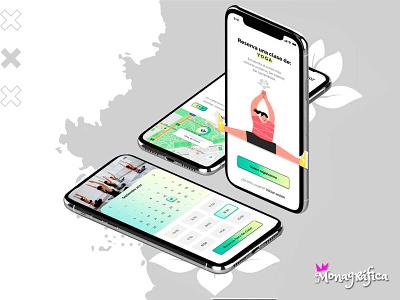 Diseño de la app de tarifa plana entre gimnasios (Figma) web figma ux graphic design ui