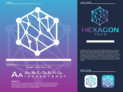 hexagon tech modern logo