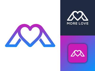 MORE LOVE uniq minimalist logo minimal logo graphic design illustration design icon logo logo design logo and branding business logo modern logo creative logo