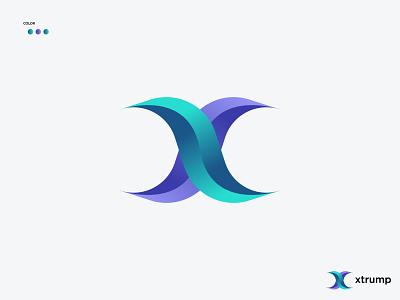 "Modern ""X"" logo | Modern letter logo brand identity logo and branding modern x logo app icon abstract logo x logo modern letter logo letter logo logo design logo design creative logo flat logo minimal logo modern logo"