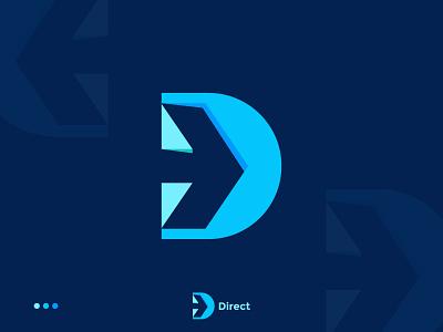 Modern D logo   arrow logo best logo design wordmark brand identity branding colorfull d logo software app icon typography symbol a b c d e f g h i j letter logo design logo logo design creative logo modern logo minimal logo flat logo