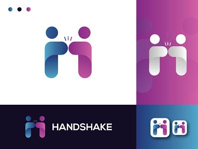 'HANDSHAKE' ICON logotype symbol logo and branding branding h logo hand icon hand logo handshake logo design logo brand identity creative logo logo design minimalist logo minimal logo flat logo modern logo