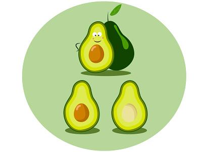 Happy Avocado slim vegetarian snack healthy healthy food veggie superfood eco food eco bio food organic foods organic diet organic food food avocado fruit vegetables cartoon vector