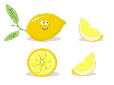 Happy Lemons lemon juice orange juice juice juicy humor vitamins fruits healthy health diet fruit citrus orange vitamin c vitamin lemonade lemons lemon cartoon vector