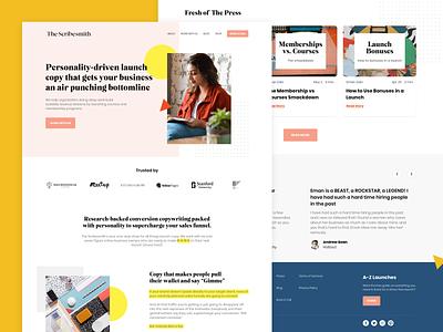 The Scribesmith Web Design webdesign ux copywriting landingpage website web ui