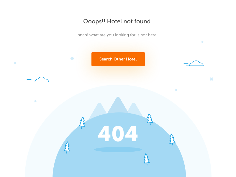 404 no hotel found state empty website page blank 404 hotel