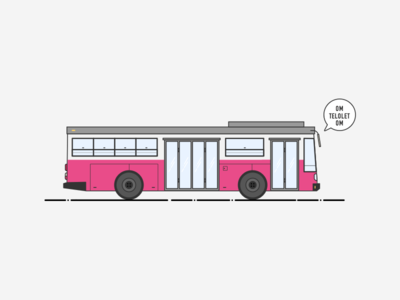 Bus - Om Telolet Om empty state dribbble illustration bus