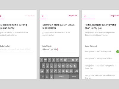 Bukalapak - Selling Feature Mobile App clean white empty state selling page bukalapak mobile ux ui
