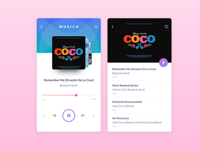 musica app - music player ux ui mobile design app music