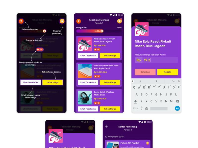 Exploration Trivia Page trivia game purples dark app ux mobile ui