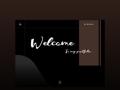 Dark Mocha Portfolio Inspiration illustration ui web typography portfolio gradients figma design dark theme mocha