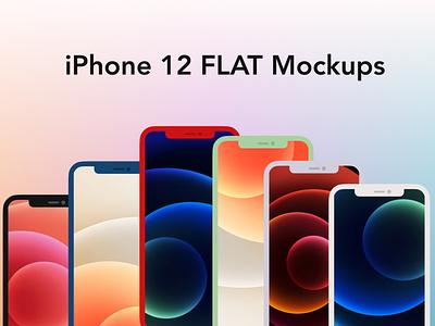iphone 12 flat mockups cover app design design flat  design iphone ios ui figma