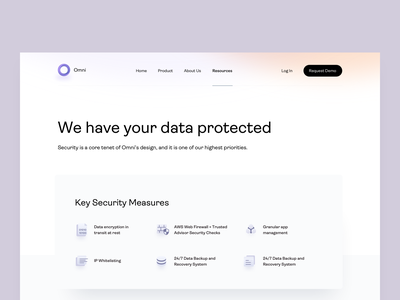 Omni - Security - v3 landing page landing security web knowledge base knowledge gdrp omni knowledge management ai ai tool faq security page