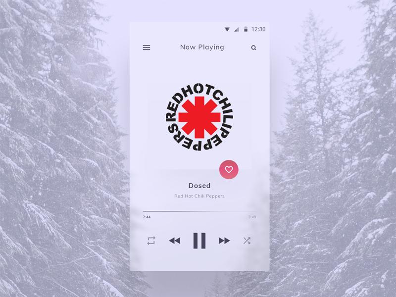 Fluent Music Player by Miodrag Karalejić on Dribbble