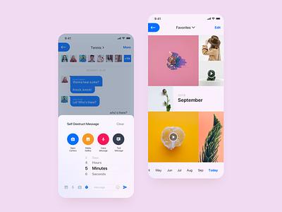 Waved App minimal clean design application app ui design layout light settings chat design ui clean