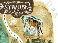 Illustrated map of Syracuse