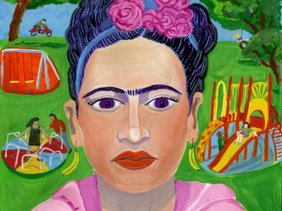 Frida Kahlo portrait gouache momma testani mitzie fridakahlo kahlo frida park mom stay at home