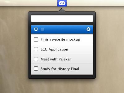 TinyDo to-do mac menubar