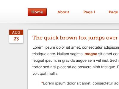 Quick brown fox tumblr theme