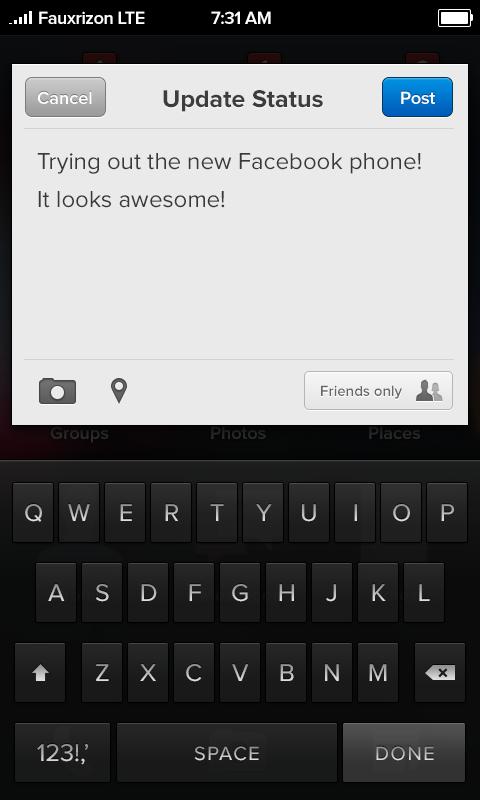 Facebookphonestatus