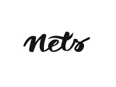 Nets brooklyn nets brush lettering tombow nba calligraphy nets