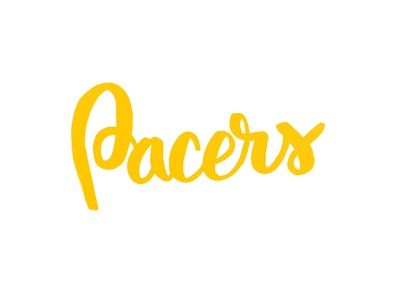 Pacers indiana pacers brush lettering typography calligraphy nba tombow