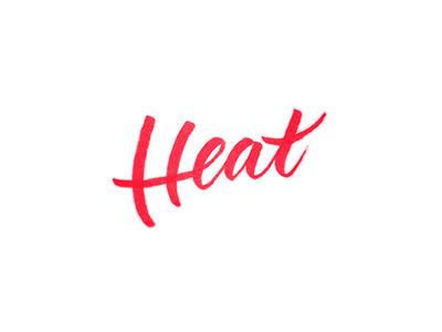 Heat miami heat brush lettering typography tombow nba calligraphy