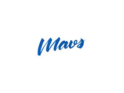 Mavs dallas mavericks brush pen brush lettering tombow mavericks nba calligraphy