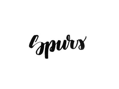 Spurs san antonio brush pen brush lettering tombow nba spurs calligraphy