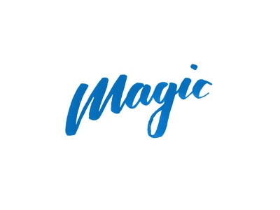 Magic orlando magic brush pen brush lettering tombow magic nba calligraphy