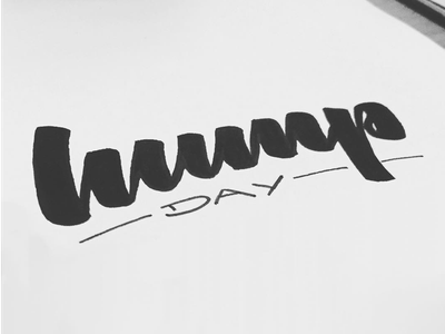 Hump Day brush lettering wednesday calligraphy tombow humpday