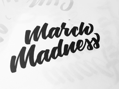 March Madness hand lettering march madness basketball ncaa calligraphy tombow