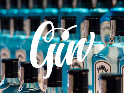 Gin brush lettering hand lettering hand type tombow calligraphy lettering type typography
