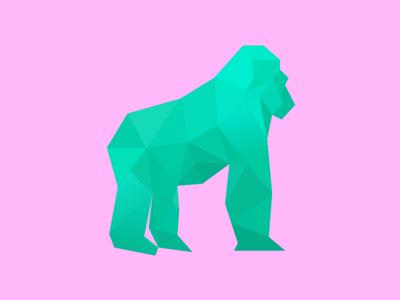 Going Ape monkey gorilla geometric