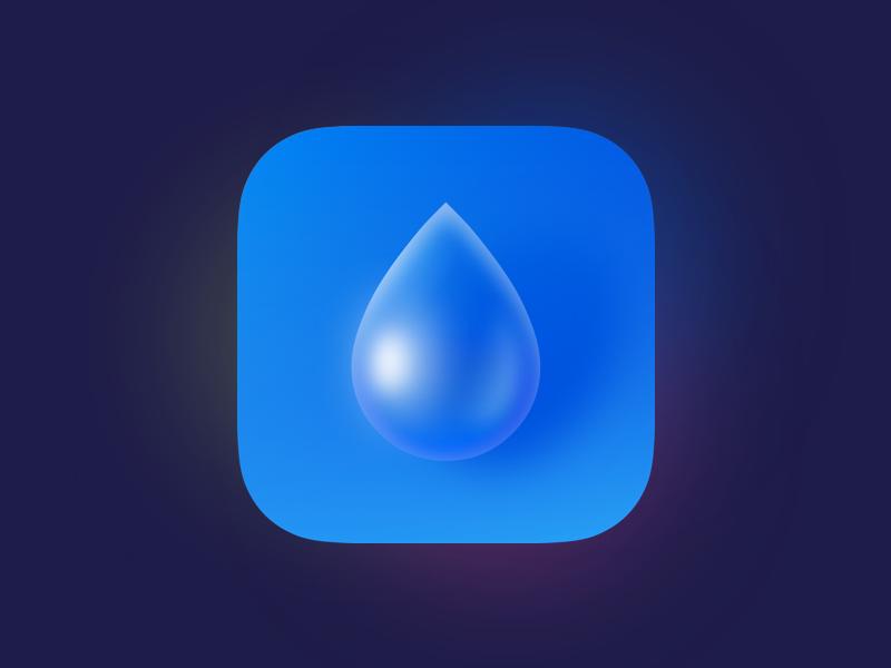 Indicatorapp Icon indicator blue drop life water sketchapp app iphone ios icon