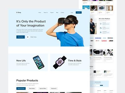 E-Commerce Landing Page Design ui designer web case study user enterface web experience uiux erperience ux design ui design business website design e-commerce webpage ui uiux web design designer design